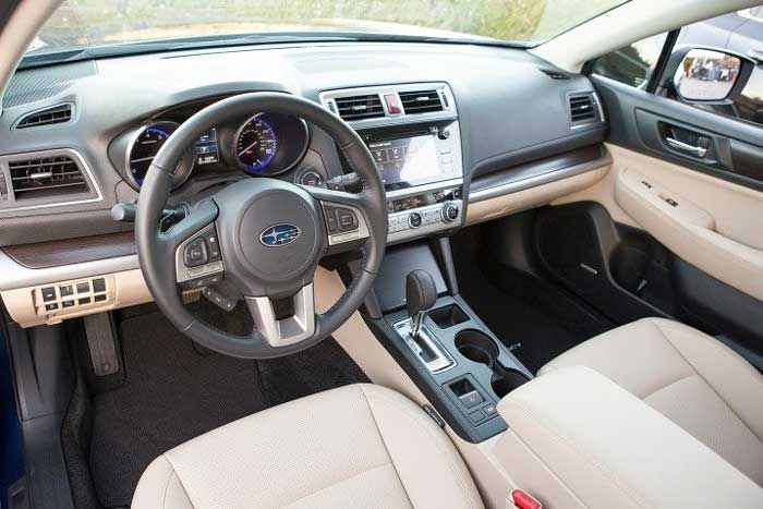 interior of Subaru legacy 2016