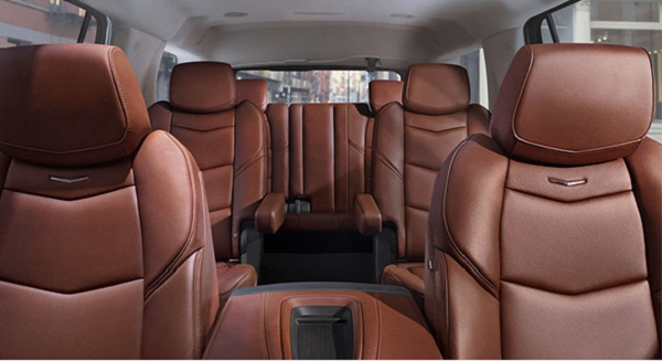 Interior of the 2017 Cadillac Escalade SUV