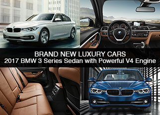 Brand New Luxury Cars – 2017 BMW 3 Series Sedan with Powerful V4 Engine