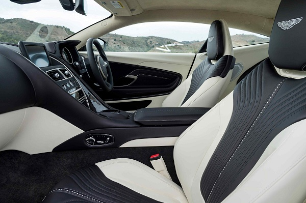 Interior of the Aston Martin DB11 2017