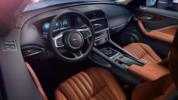 Interior of the 2017 Jaguar F-Pace