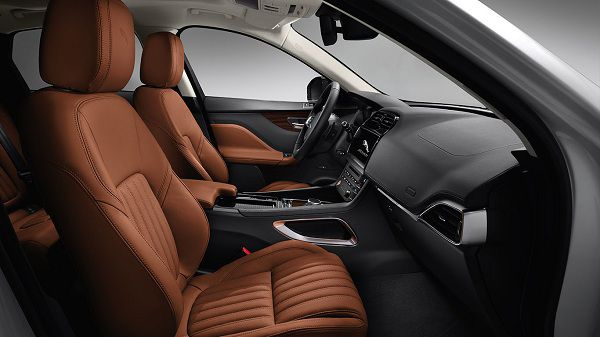 Interior of 2017 Jaguar F-Pace