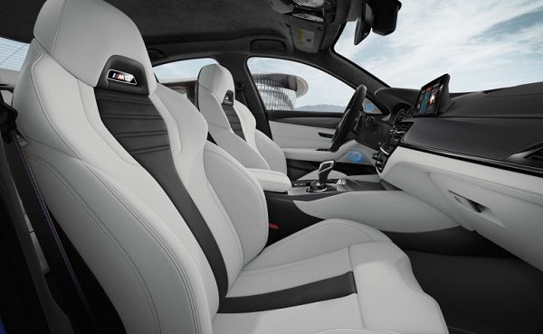 Interior of 2018 BMW M5 Luxury Sedan
