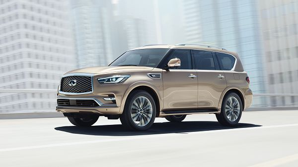 Exterior of the 2018 Infiniti QX80