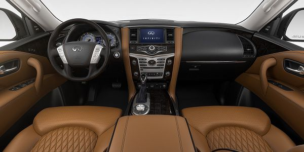Interior of the 2018 Infiniti QX80