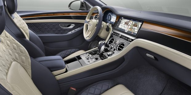 Interior of 2019 Bentley Continental GT Coupe