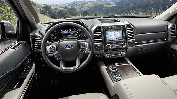 Interior of 2020 Ford Expedition