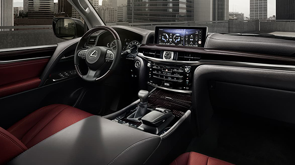 Interior of 2020 Lexus LX