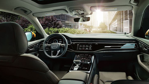 Interior of 2020 Audi Q8 with a TFSI V6 Engine
