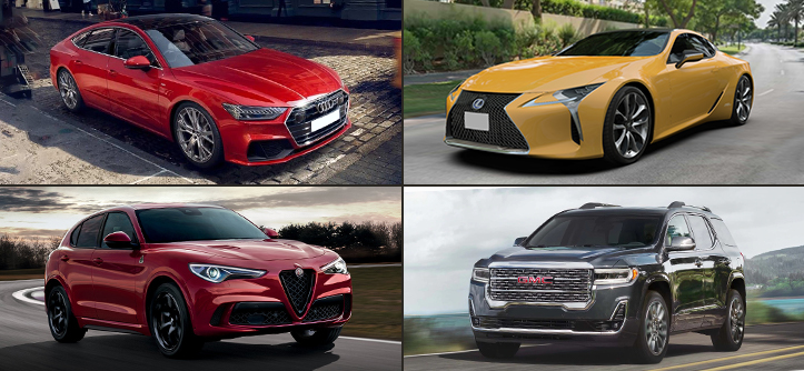 4 Luxury Cars with Advanced Driver-assistance Systems