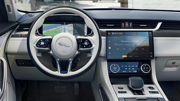 Interior of the 2021 Jaguar F-Pace SVR